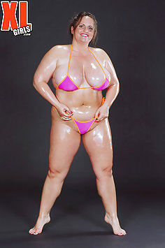 Oiled Up Muscle BBW